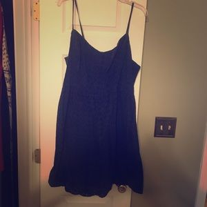 Old navy- Navy blue eyelet dress.
